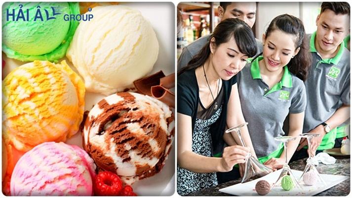 học làm kem trước khi mở cửa hàng kem