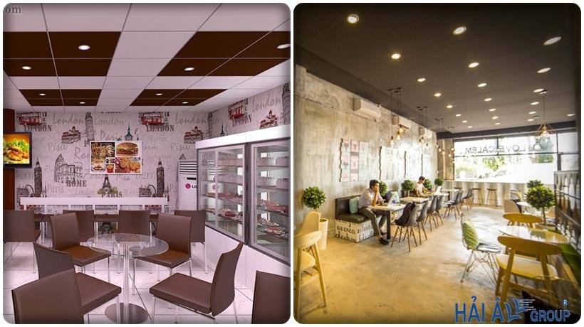 không gian cửa hàng kem