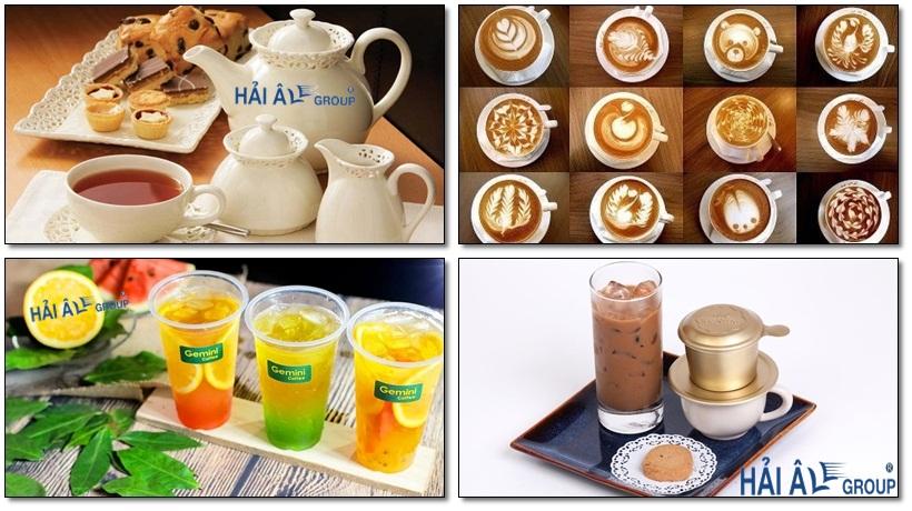 các loại trà, cà phê, trà sữa làm từ máy đun nước nóng