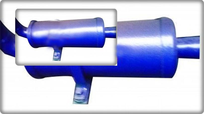 ống giảm thanh máy làm đá tự động