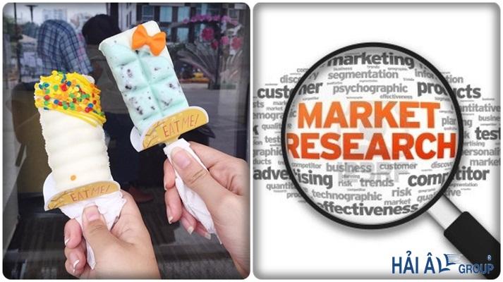 khảo sát thị trường giúp cửa hàng kem thành công