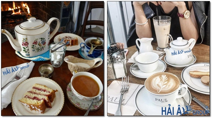 cà phê và trà dùng từ máy đun nước nóng