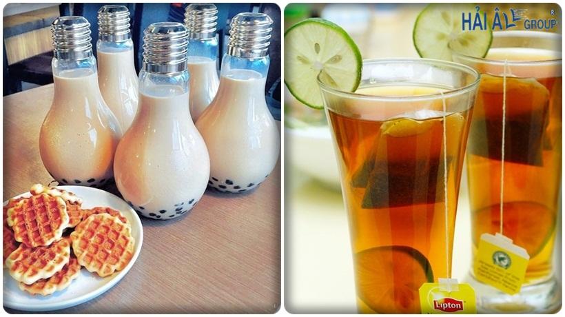 thức uống được chuẩn bị từ nước sạch của máy đun nước nóng