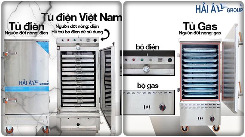 bảng điện tử của 2 loại tủ nấu cơm