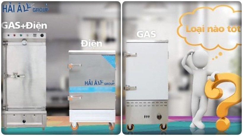 tủ nấu cơm gas và điện