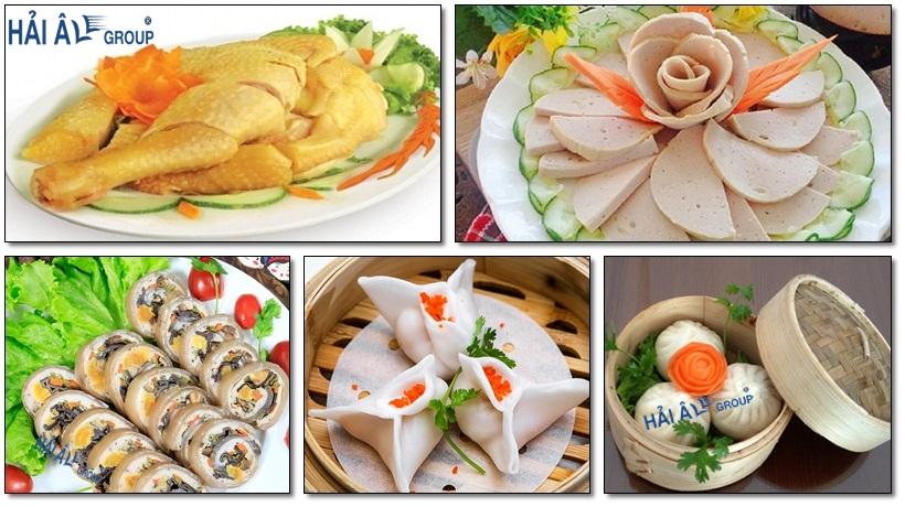 các món ăn làm từ tủ cơm công nghiệp