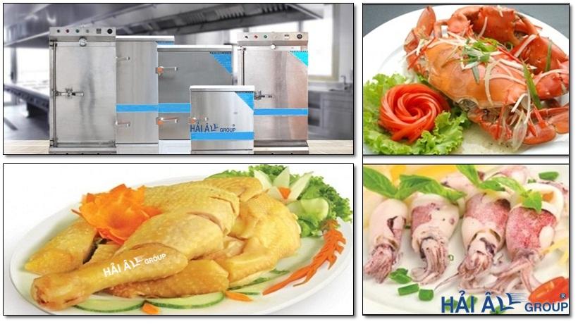 các món ăn chế biến với tủ nấu cơm công nghiệp
