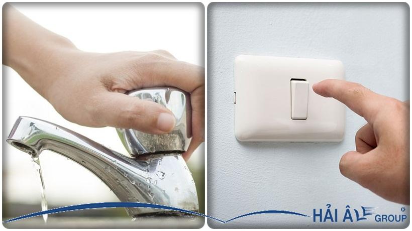 tắt nguồn điện trước khi vệ sinh máy làm đá